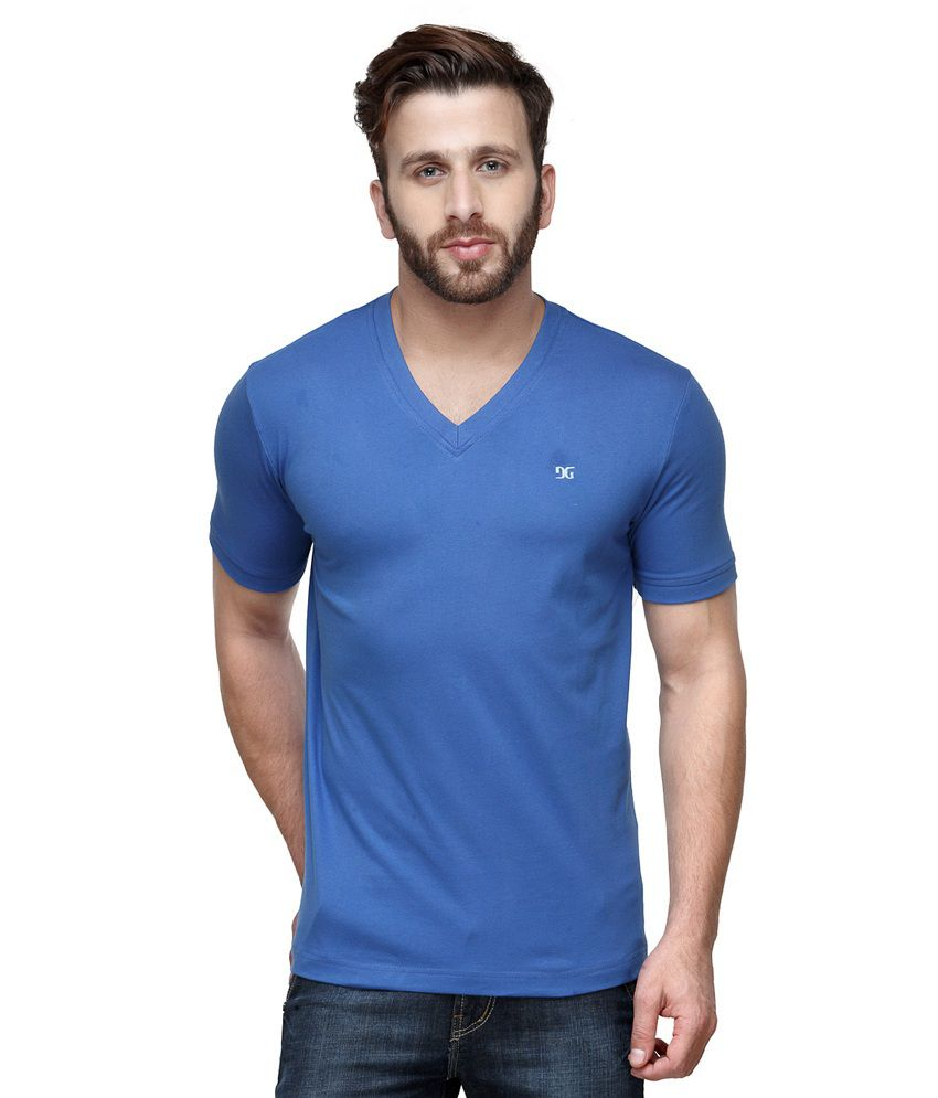 Dazzgear Combo of Blue V Neck T-Shirt