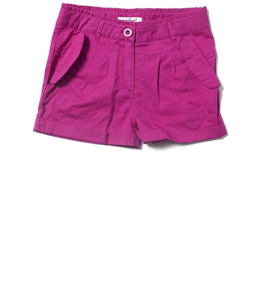 Nauti Nati Dark Fushcia Girls Shorts