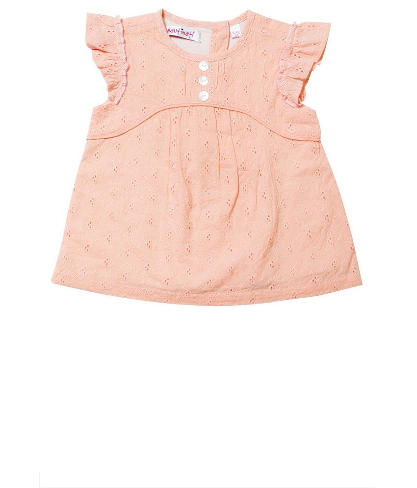 Nauti Nati Peach Girls Top