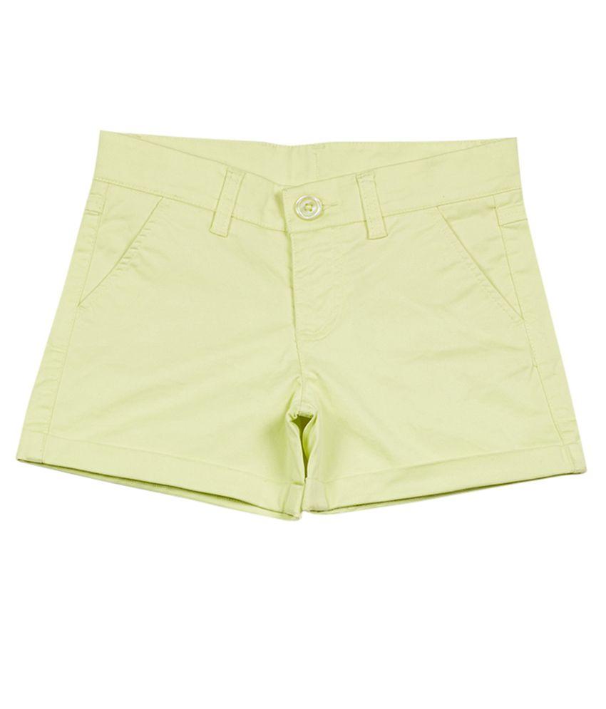 UCB  Lemon Solid Shorts For Kids