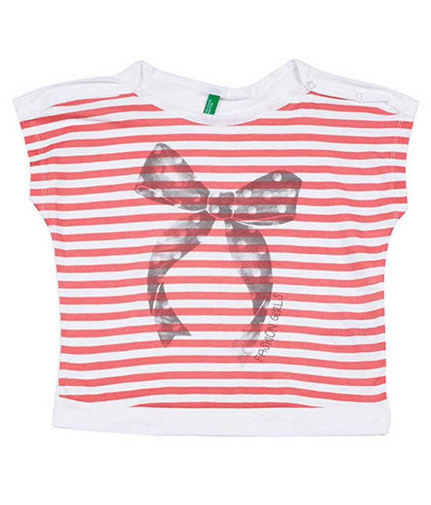 7fdc485a UCB Short Sleeve White/Red Stripe Top For Kids - Buy UCB Short Sleeve White/ Red Stripe Top For Kids Online at Low Price - Snapdeal