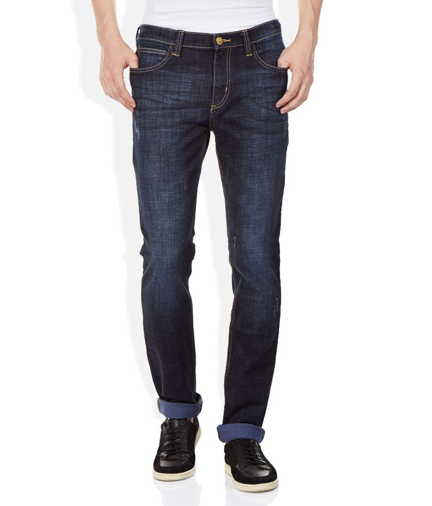 89fb84b4 Lee Blue Bruce Skinny Fit Jeans - Buy Lee Blue Bruce Skinny Fit Jeans Online  at Best Prices in India on Snapdeal