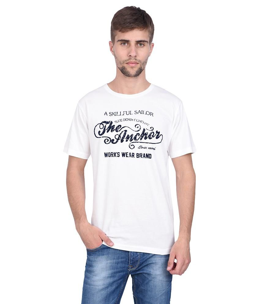 Slub fine white printed t shirt for men buy slub fine Shirts for thin guys