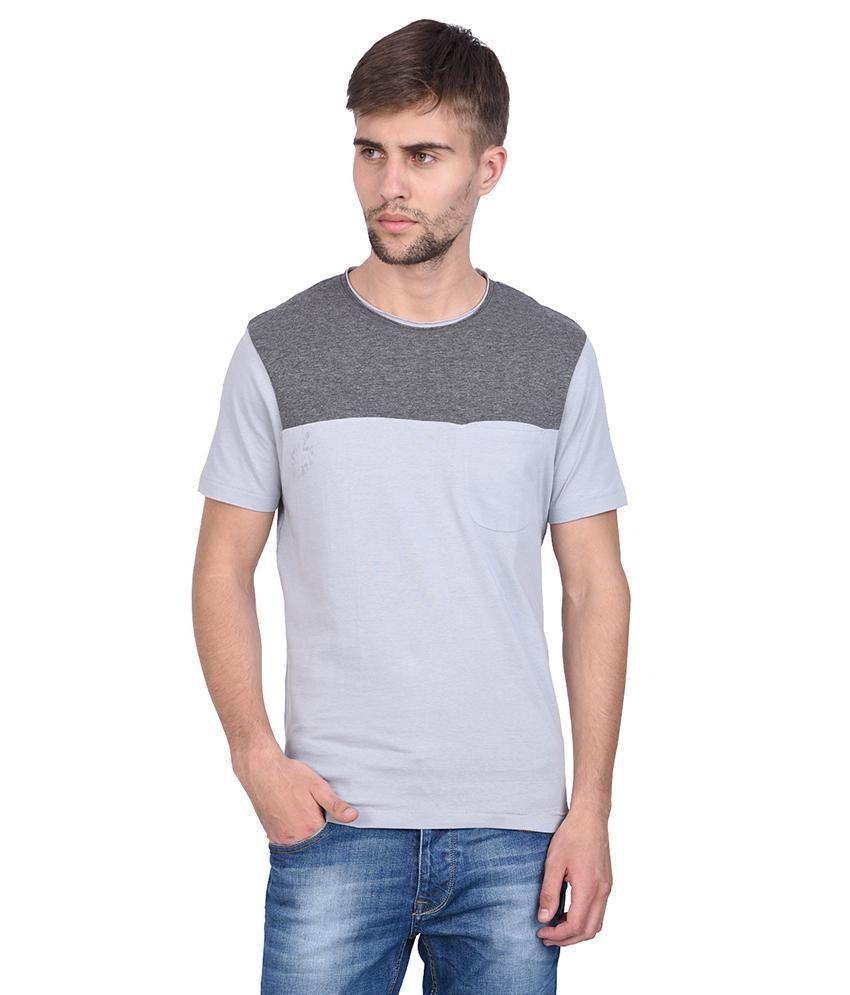 Slub gray off white half sleeve t shirt for men buy for Half sleeve t shirts for men