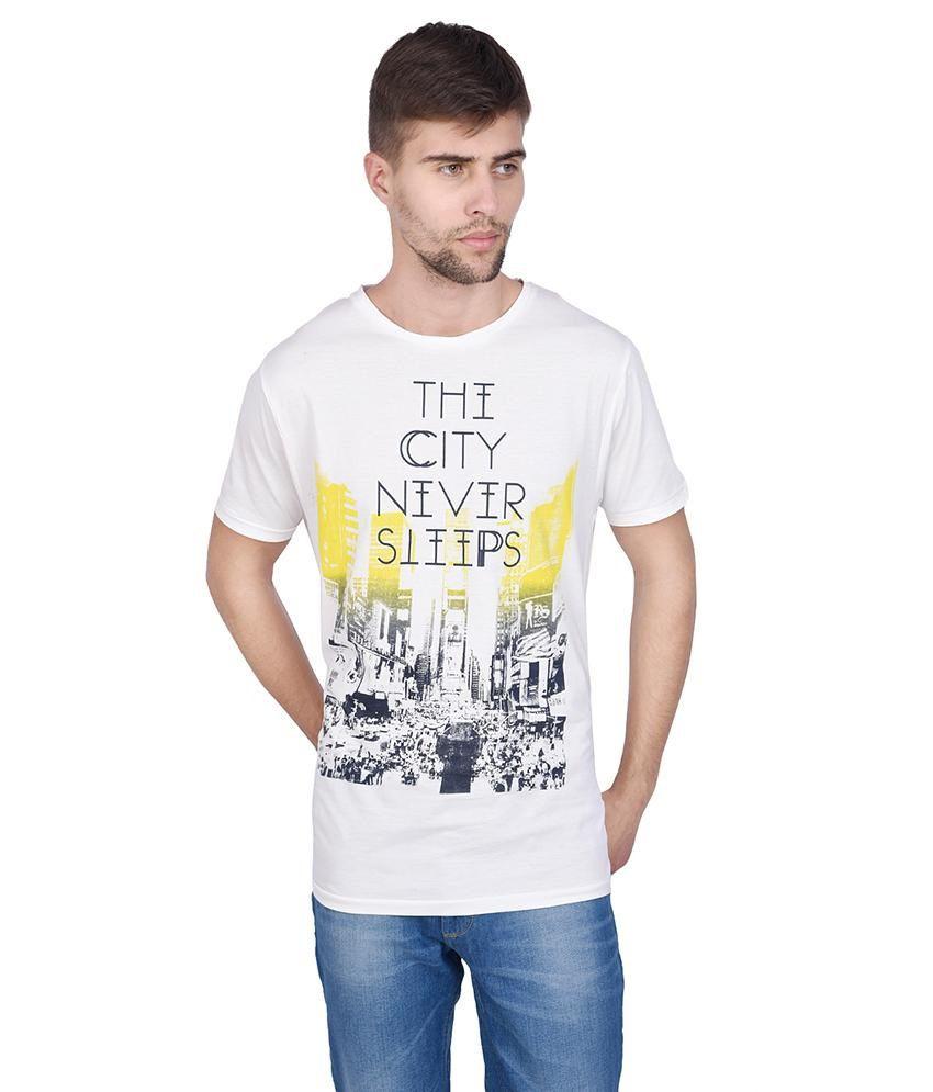 Slub White T Shirt For Men