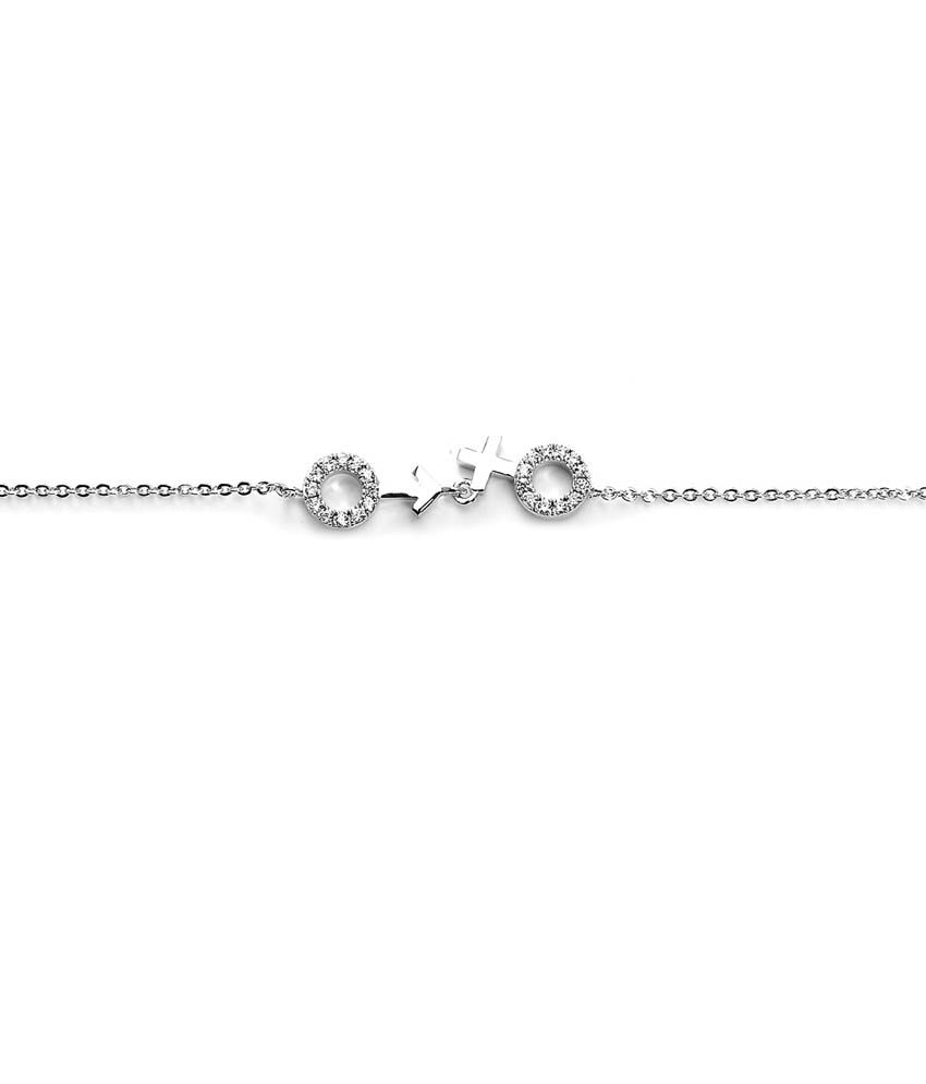 Blinglane Silver Copper Hearts CZ Anklets
