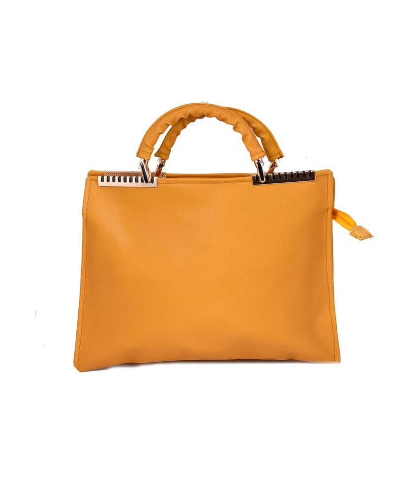 Choudhary Enterprises Yellow Leather Shoulder Bag
