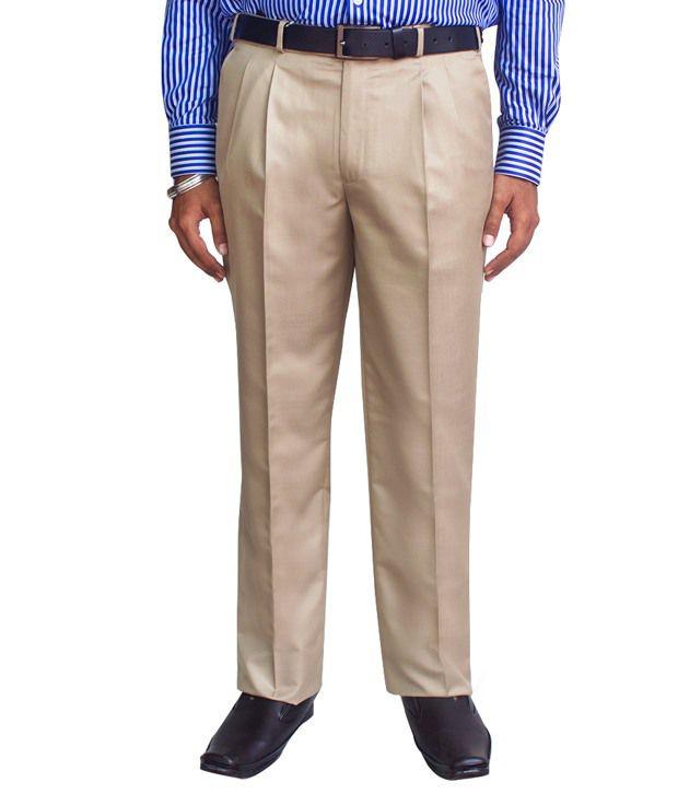 Kinger Beigi Pleated Trouser