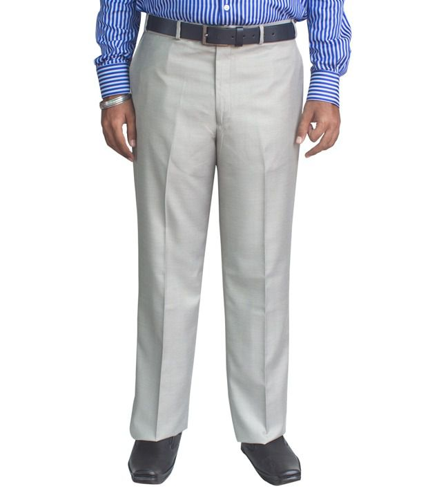 Kinger Cream Color Regular Trousers