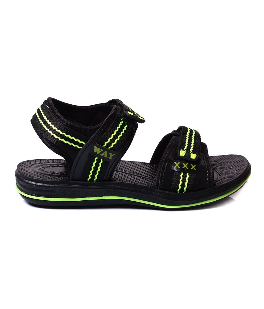 4298521f25c4b Myrah Black   Green Angle Air Sandals For Kids Price in India- Buy ...