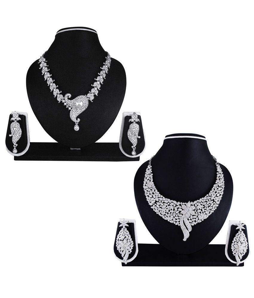 Atasi International Janam Combo of Wedding & Engagement wear Necklace Sets