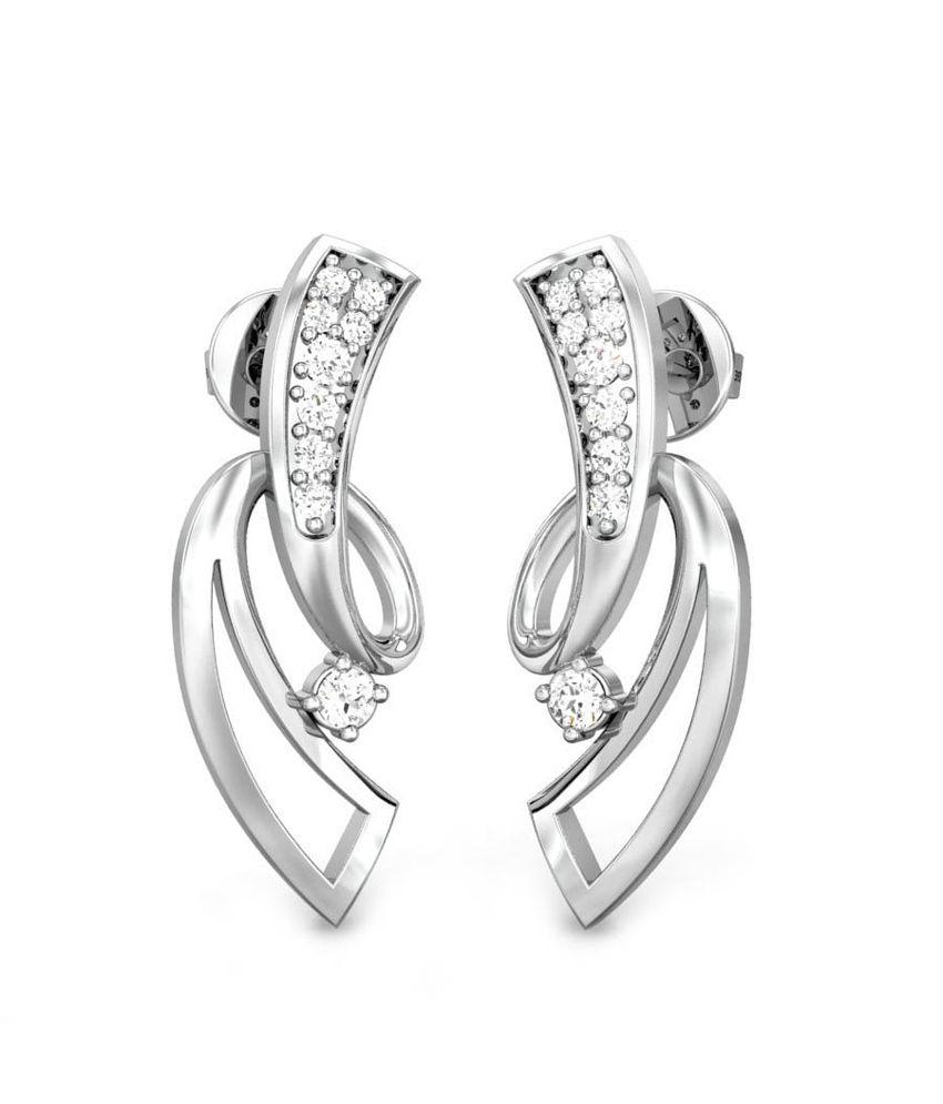 Candere Alissa Diamond Earring White Gold 14K
