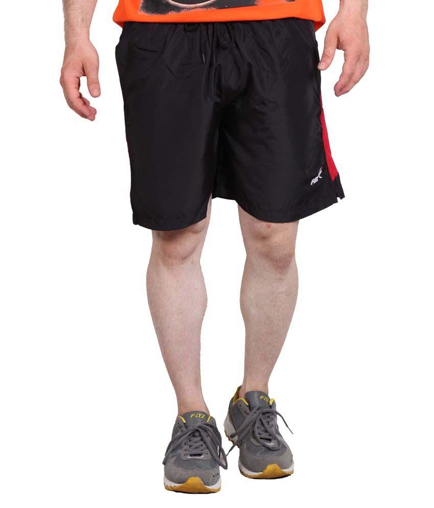 Fitz Black Polyester Shorts