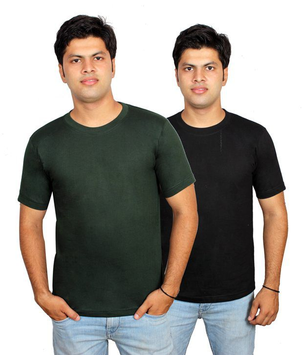 Priest Trading Multicolor Round Neck Cotton T-shirts- Pack Of 40