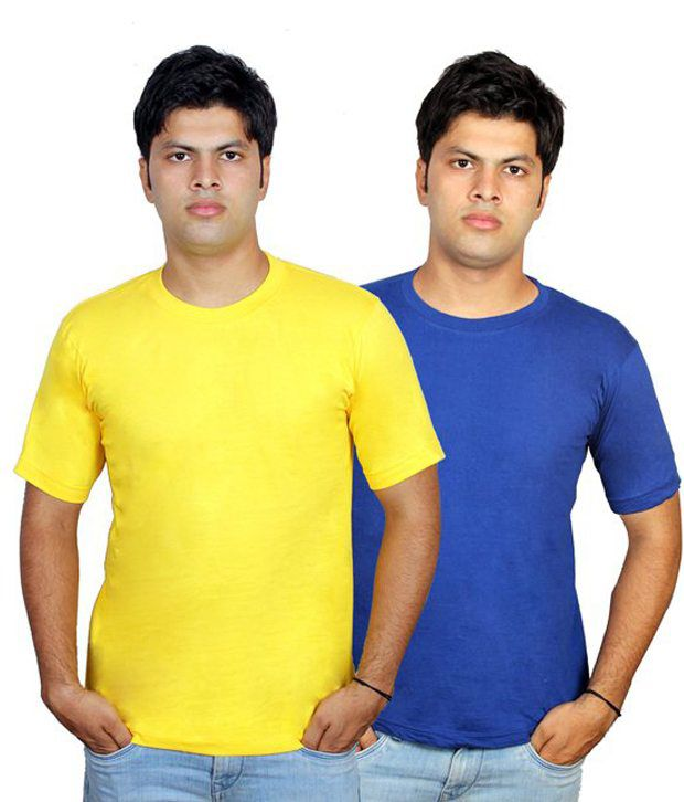 Priest Trading Multicolor Round Neck Cotton T-shirts- Pack Of 117