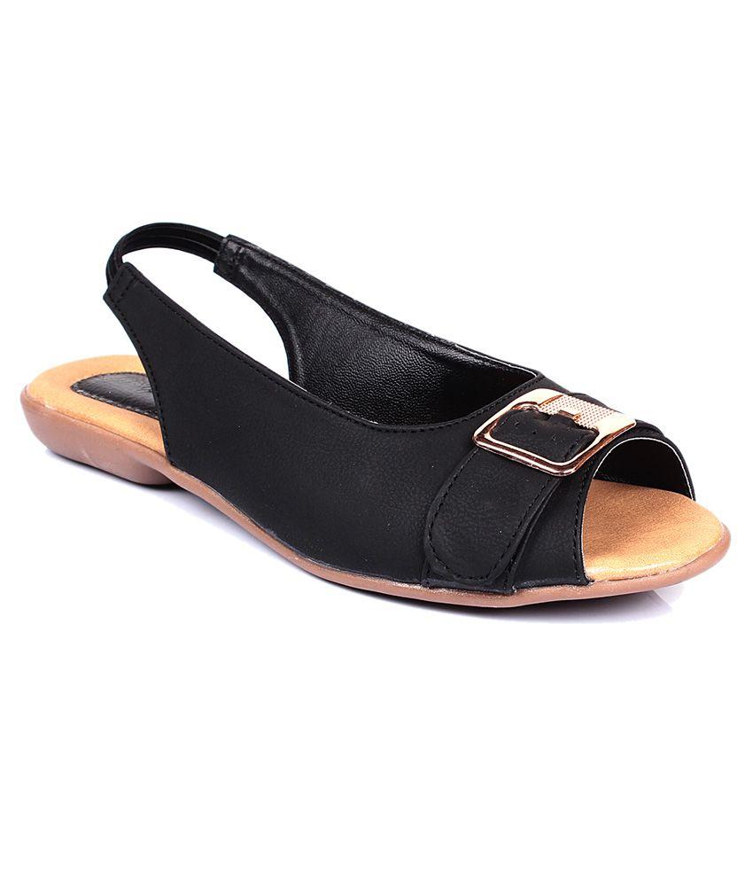 Bare Soles Black Sandal