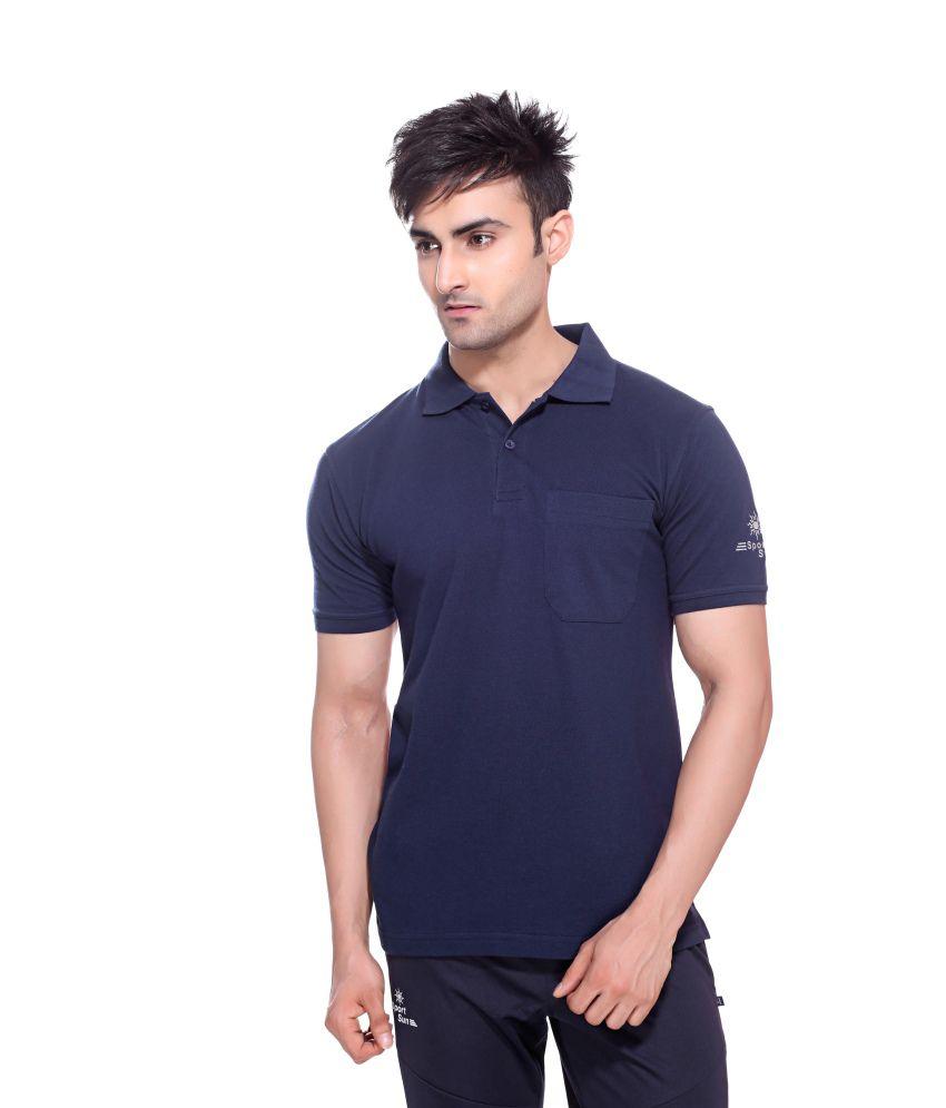 Sport Sun Sportswear Navy Mattey Cotton T-Shirt