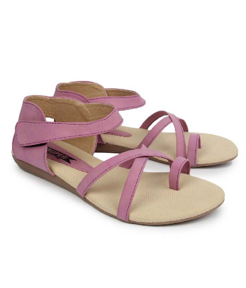 Superstar Purple Synthetic Flat Daily Wear Sandals