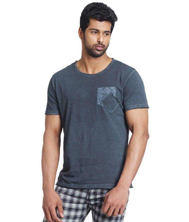 Fashnopolism Gray Cotton T Shirt For Men