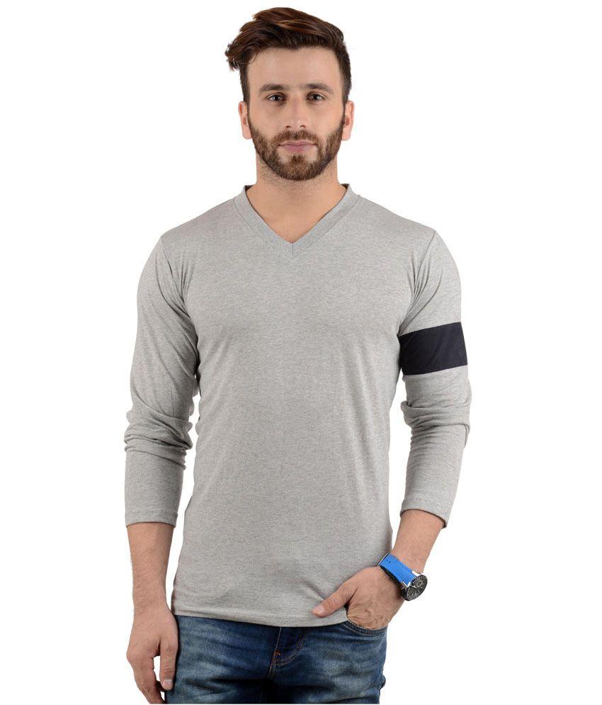 Radbofin Cotton V-neck Full Sleeves T-shirt