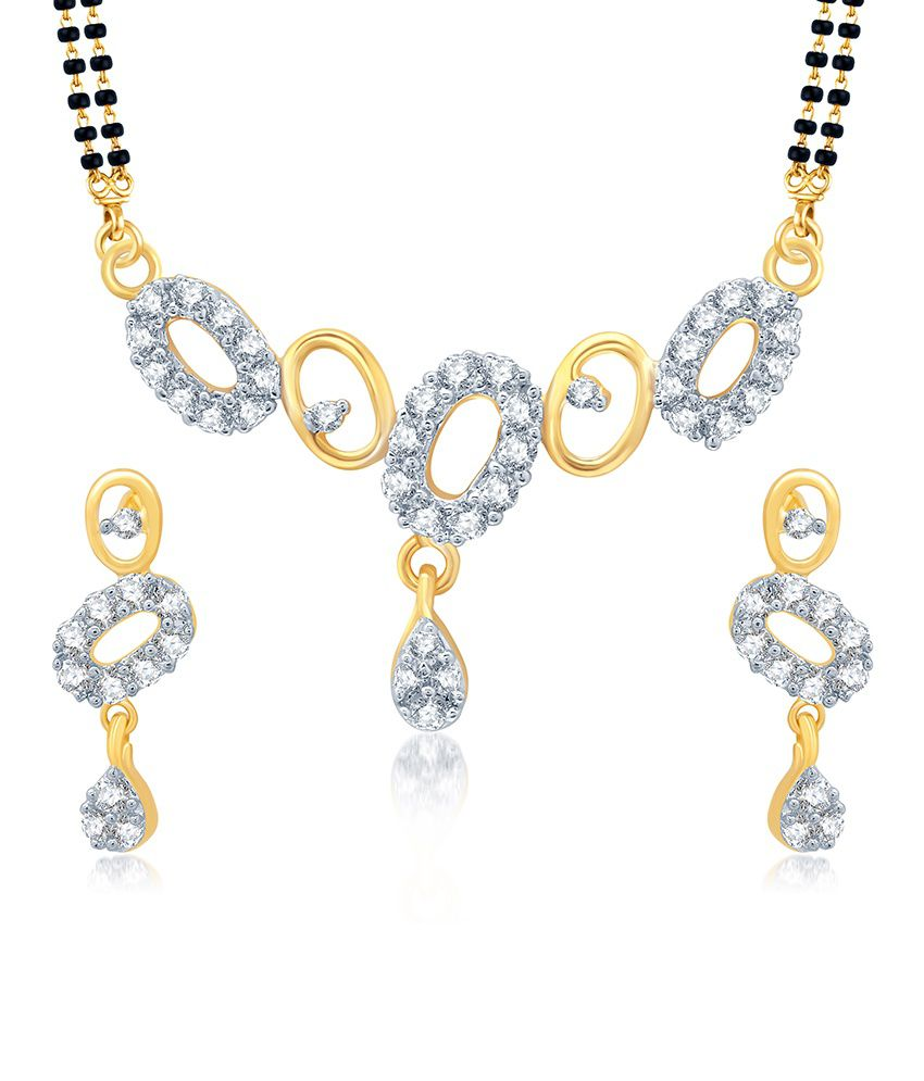 Sukkhi Estonish Gold and Rhodium Plated Cubic Zirconia Stone Studded Mangalsutra Set (Mangalsutra Mala may vary from the actual image)