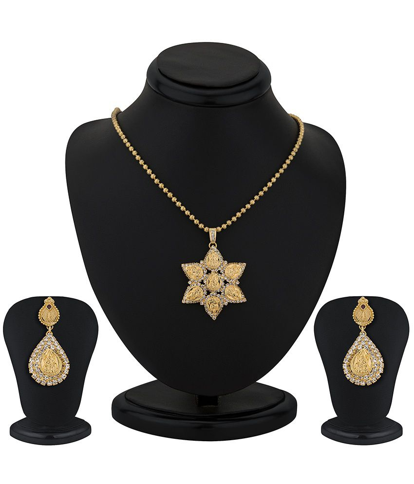 Sukkhi Gold Plated Lord lakshmi Pendant Set