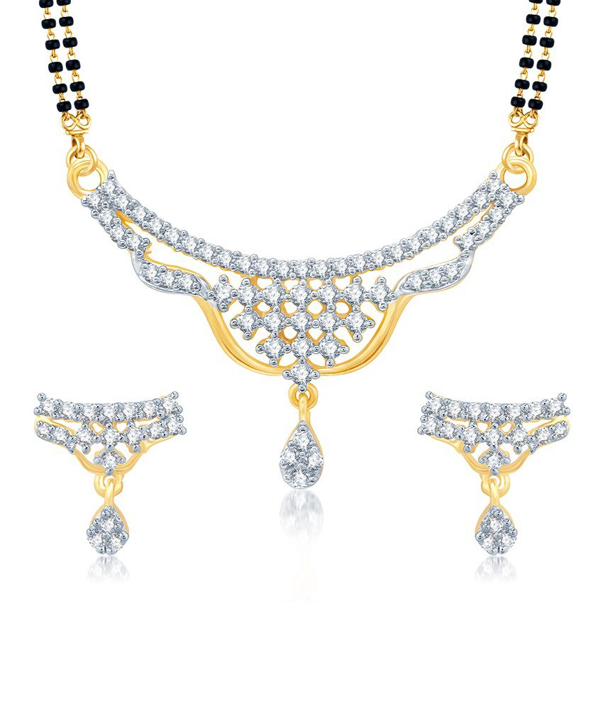 Sukkhi Gracefull Gold and Rhodium Plated Cubic Zirconia Stone Studded Mangalsutra Set (Mangalsutra Mala may vary from the actual image)
