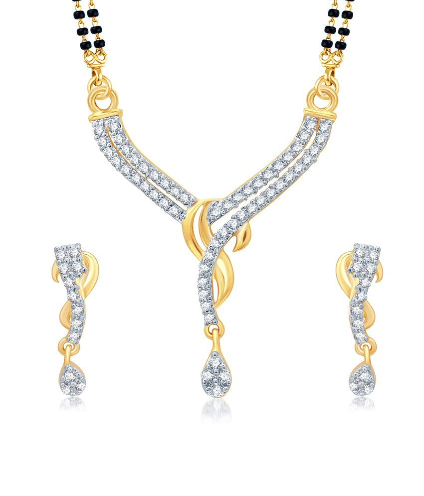 Sukkhi Incredible Gold and Rhodium Plated Cubic Zirconia Stone Studded Mangalsutra Set (Mangalsutra Mala may vary from the actual image)