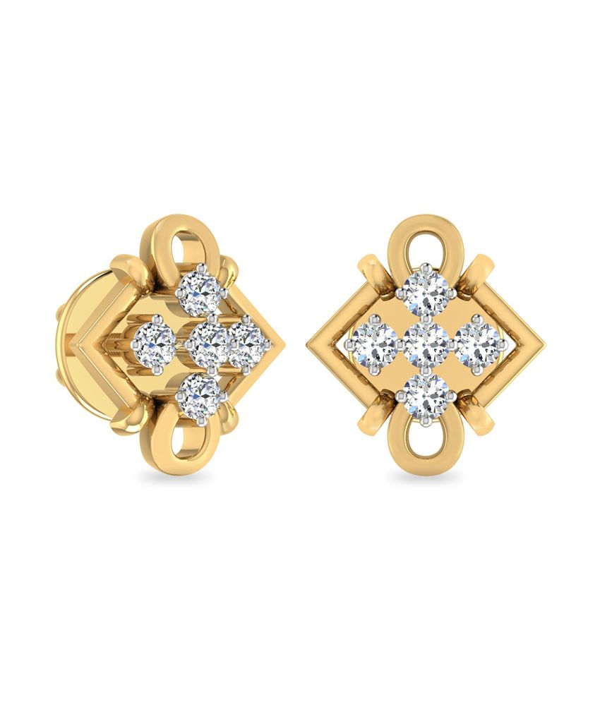 WearYourShine PC Jeweller 18KT Gold The Yanira Diamond Earrings