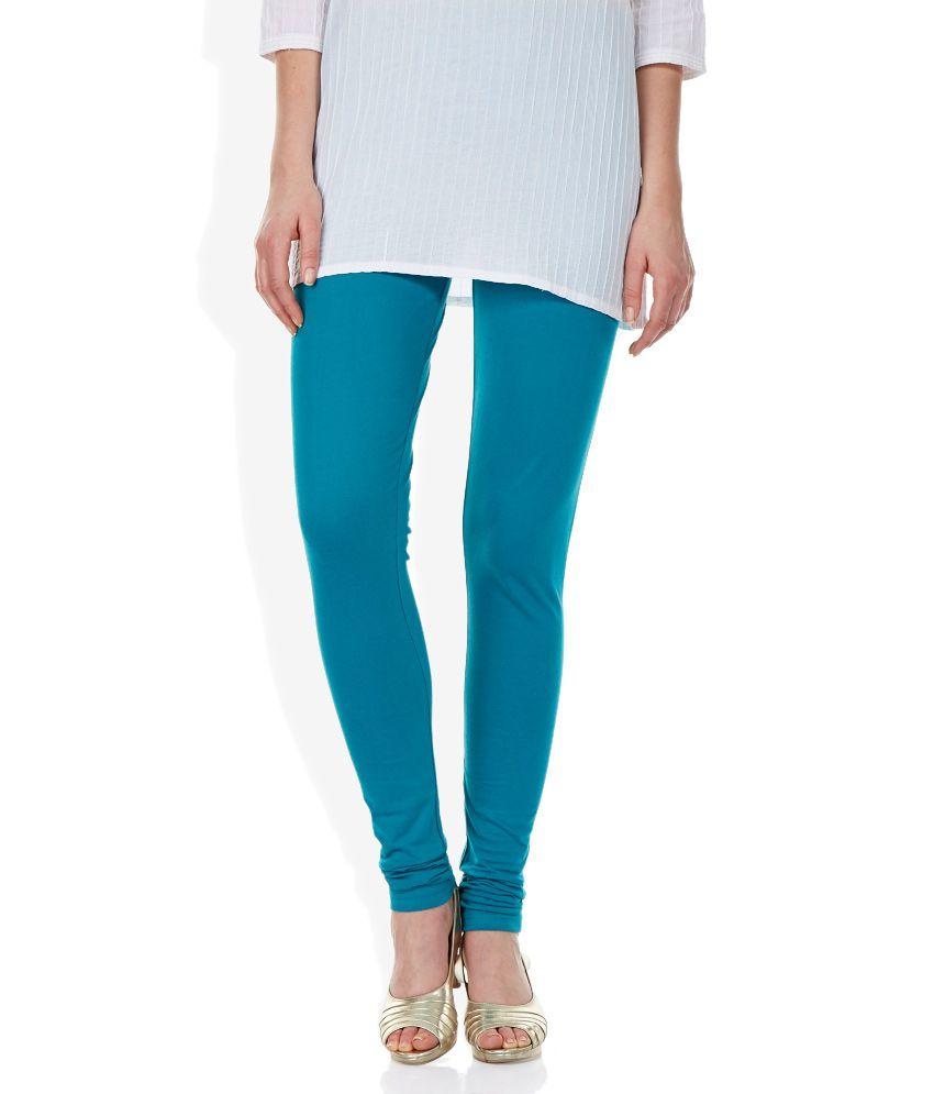 d8a61b8becc7bd Aurelia Turquoise Blue Cotton Churidar Leggings Price in India - Buy  Aurelia Turquoise Blue Cotton Churidar Leggings Online at Snapdeal
