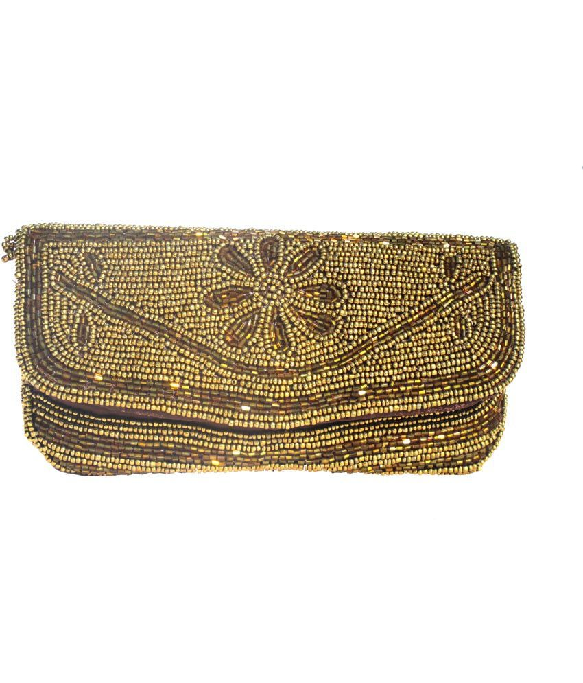 Subhan China Golden Small Magnit Button Clutch