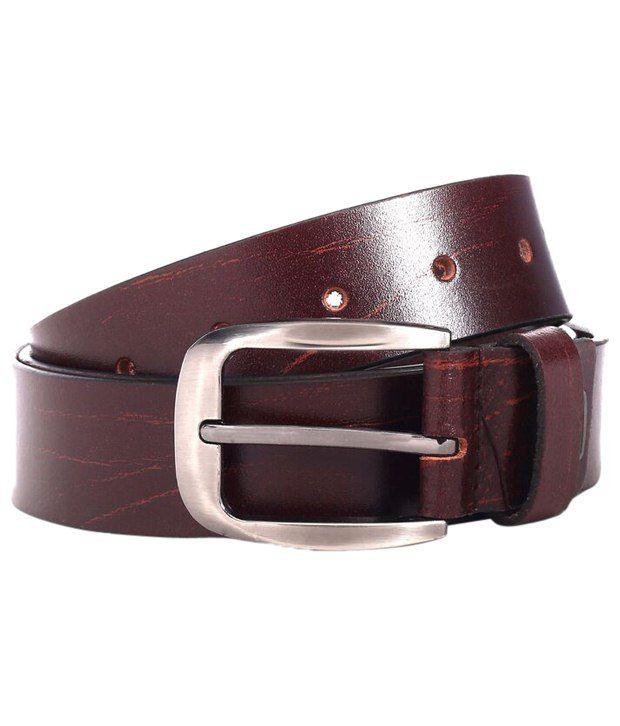 WildHorn Alluring Brown Formal Belt For Men