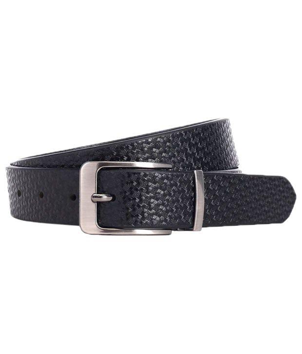 WildHorn Attractive Black Casual Belt For Men