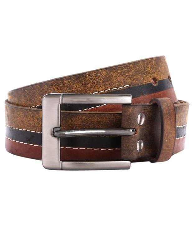 WildHorn Smart Brown & Black Casual Belt For Men