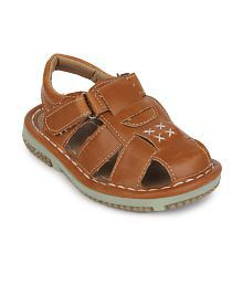 Action Shoes Tan Sandals For Boys