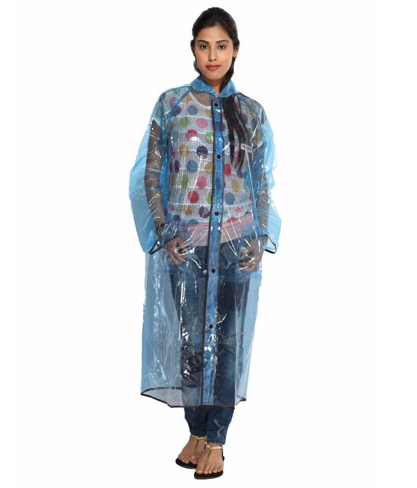 Versalis Blue Full Long Raincoat