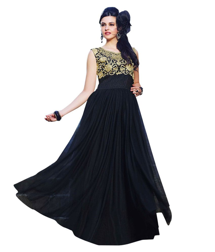 47975e08acd Zabme Black Net Gowns - Buy Zabme Black Net Gowns Online at Best Prices in  India on Snapdeal