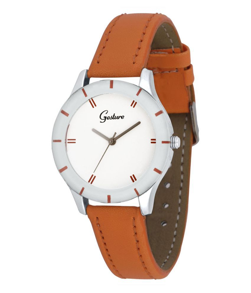 Gesture Mustard Casual Analog Watch