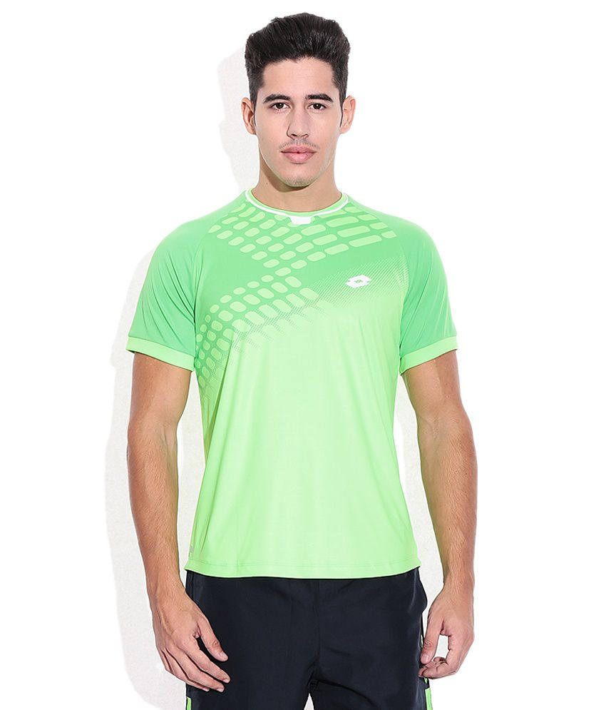 Lotto Green Round Neck T Shirt
