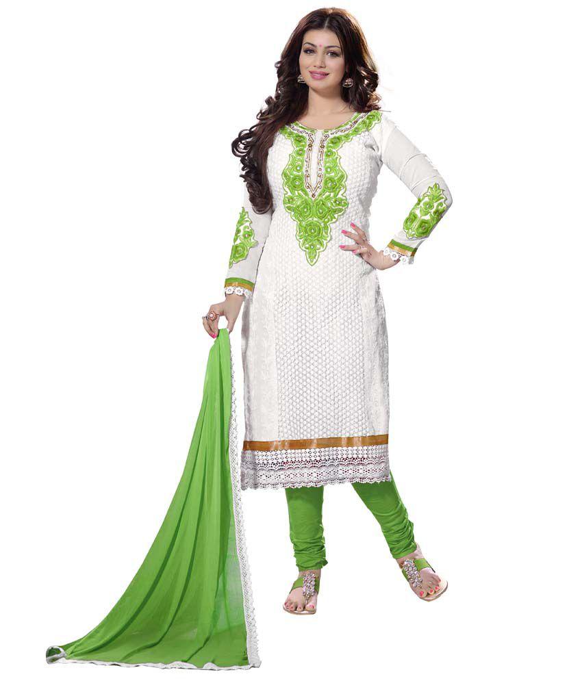Sai Enterprise Green Chanderi Stitched Suit