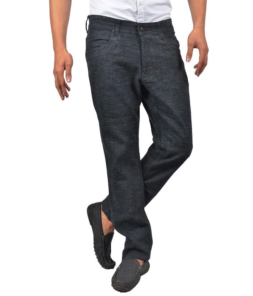 G'Perks Black Cotton Lycra Trousers