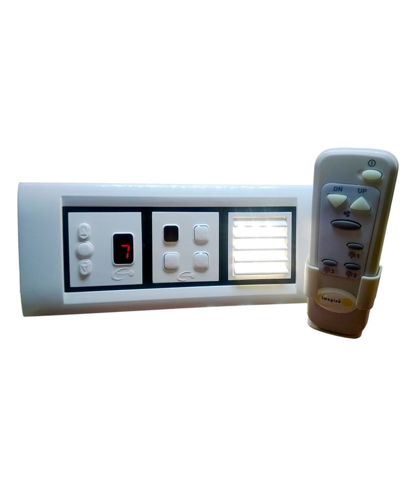 Buy led night lamp online india - Imagine Remote Control Switch For 3 Light 1 Fan With Led Night Lamp