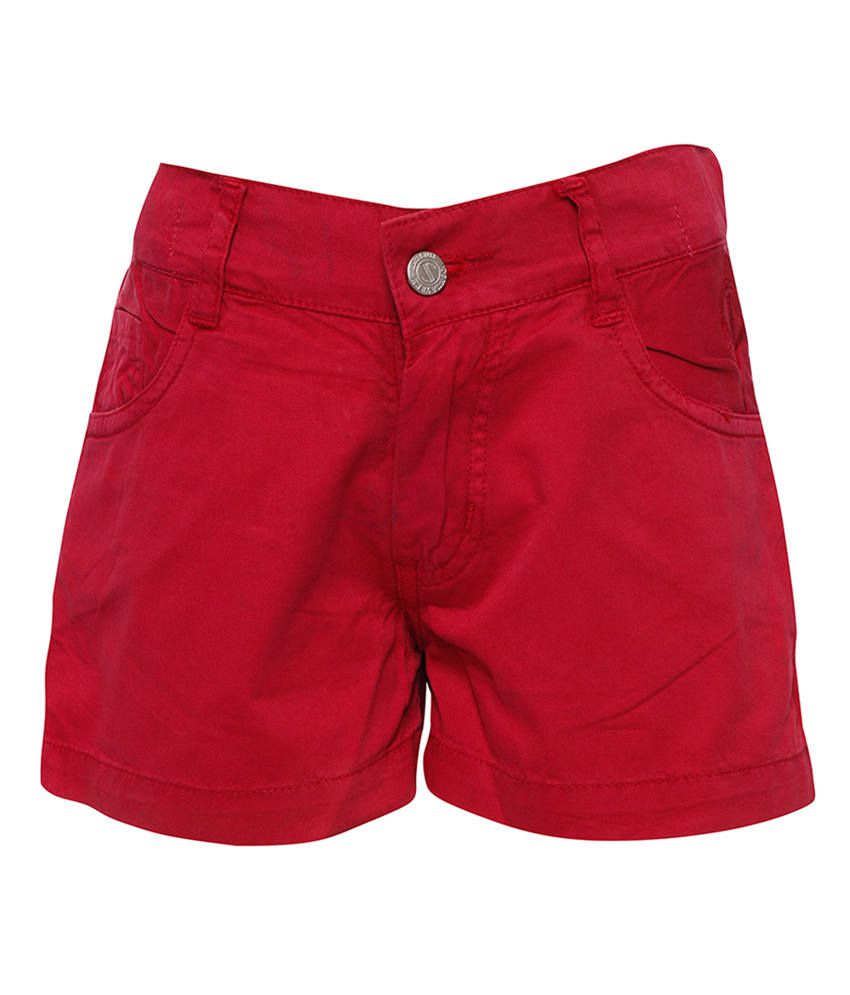 Joshua Tree Pink Cotton Solid Shorts