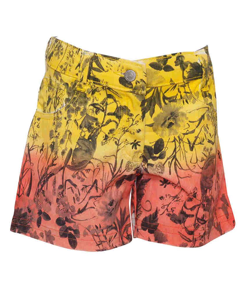 Joshua Tree Yellow Cotton Printed Shorts