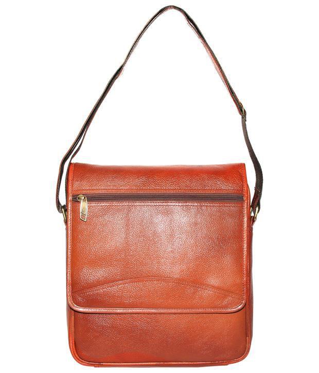C Comfort Tan Brown Laptop Bag