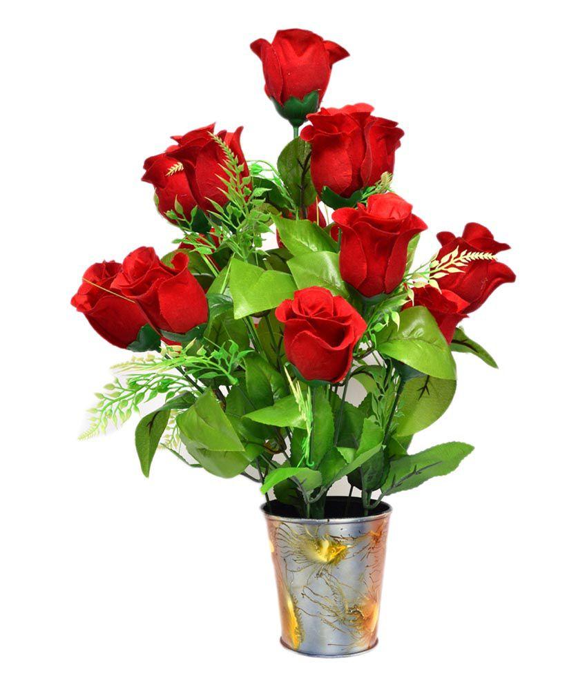 96 Best Images About Wpc Planter Pot: Yash Enterprises Rose Flowers With Pot Red: Buy Yash