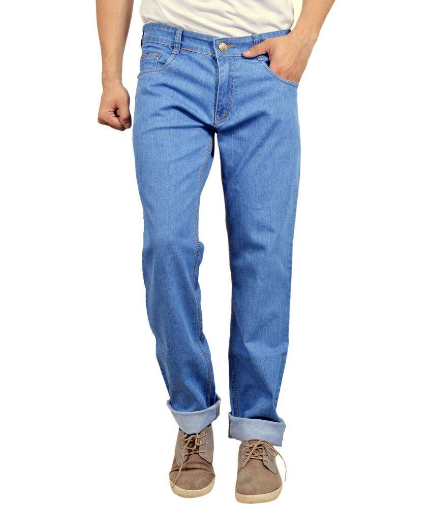 Studio Nexx Blue Cotton Regular Fit Jeans