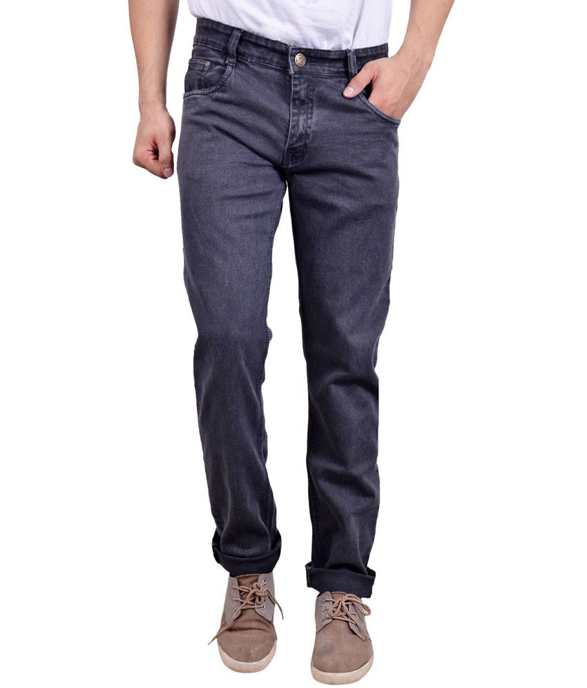 Studio Nexx Gray Cotton Regular Fit Jeans