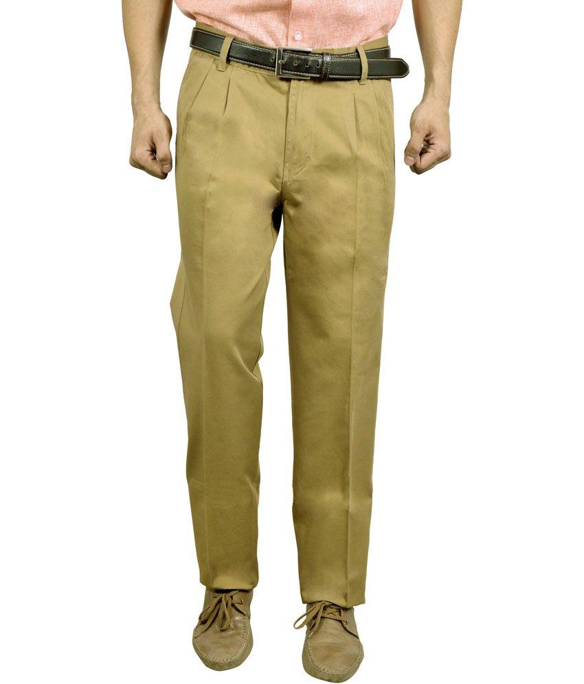 Studio Nexx Green Cotton Regular Fit Men Trouser