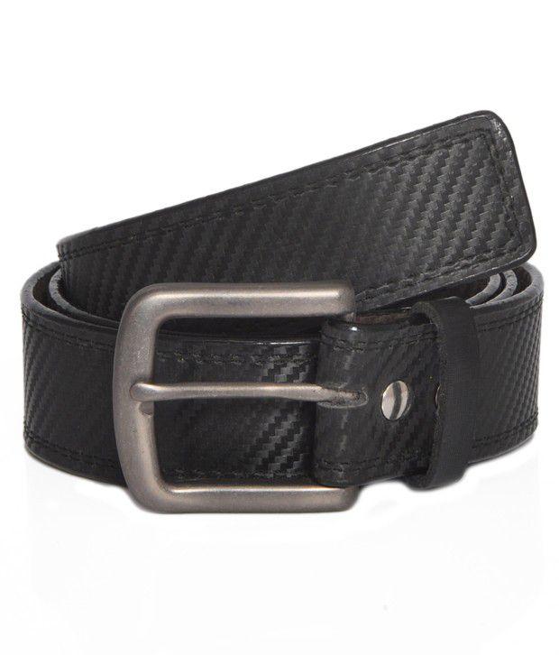Stylox Non Leather Black Belt [STX109]